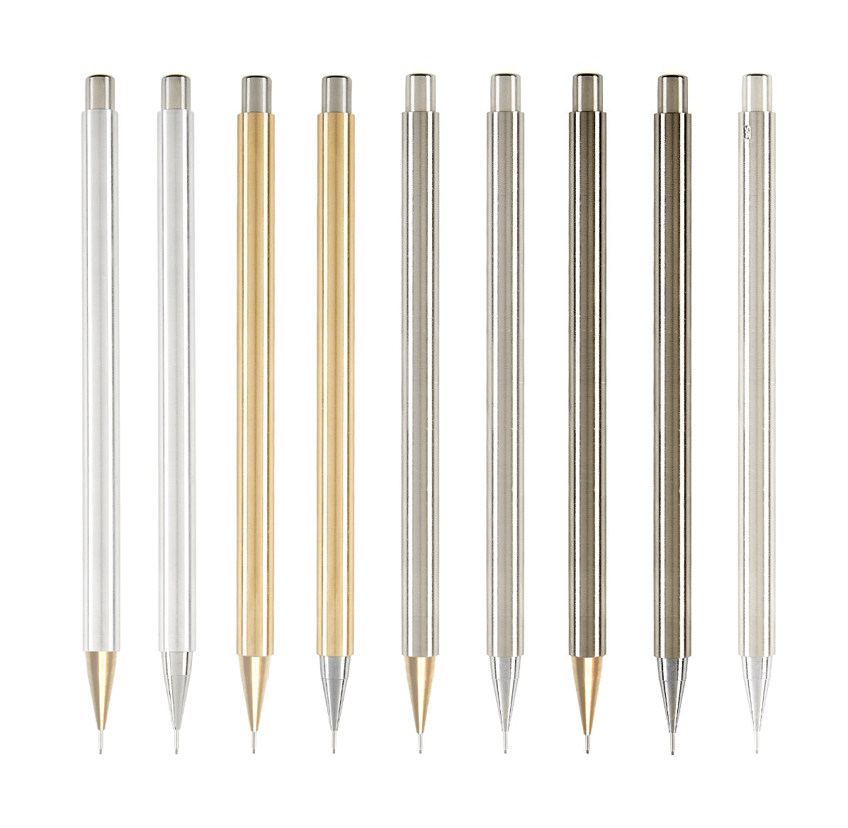 the pencil Pencil in definition, a slender tube of wood, metal, plastic, etc, containing a core or strip of graphite, a solid coloring material, or the like, used for writing or drawing.