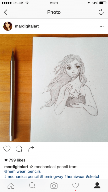 mechanical pencil art