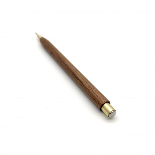 Walnut and brass mechanical pencil
